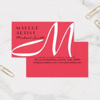 Maskenbildner-stilvolles Monogramm-moderner Wunsch Visitenkarten