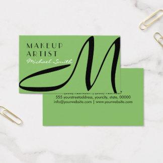 Maskenbildner-stilvolles Monogramm-modernes Visitenkarten