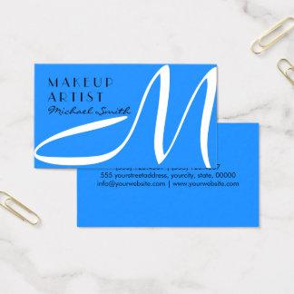 Maskenbildner-stilvolles Monogrammmodernes Visitenkarten