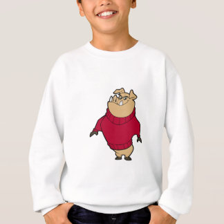 Maskottchen - Schwein-Rot Sweatshirt