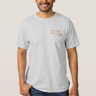 Massachusetts Besticktes T-Shirt