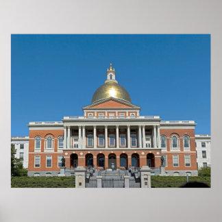 Massachusetts Statehouse_Boston Massachusetts Poster
