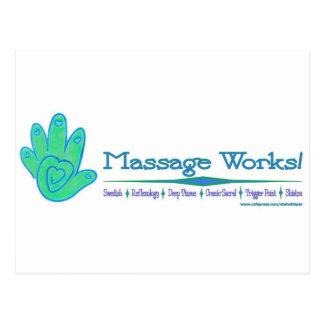 Massage-Arbeiten! Postkarte