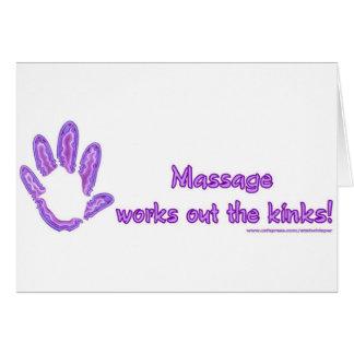 Massage arbeitet die Schleifen aus Karte