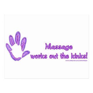 Massage arbeitet die Schleifen aus Postkarte