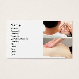 Massage des Gesichtes und der Rückseite Visitenkarte