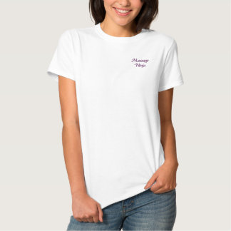 Massage Ninja Besticktes T-Shirt