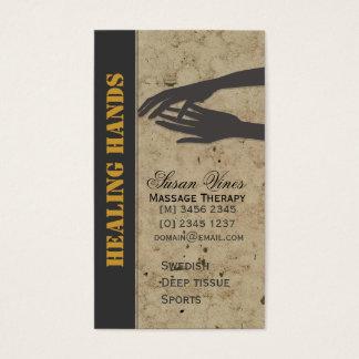 Massage-Therapie-heilende Hände Visitenkarte