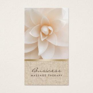Massage-Therapie-nobler Blumen-u. Visitenkarte