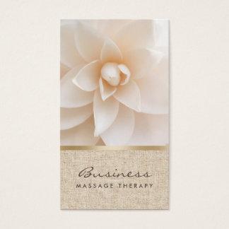Massage-Therapie-nobler Blumen-u. Visitenkarten