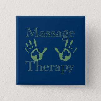 Massagetherapie-Handdrucke Quadratischer Button 5,1 Cm