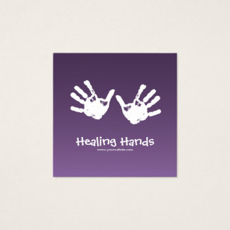 Massagetherapie - lila quadratische visitenkarte