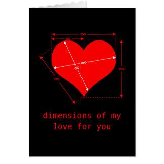 Maße der Liebe Karte