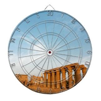 Mast und Kolonnade, der Luxor-Tempel Dartscheibe