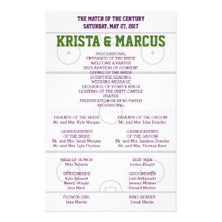 Match des Jahrhundert-Hochzeits-Programms Flyer