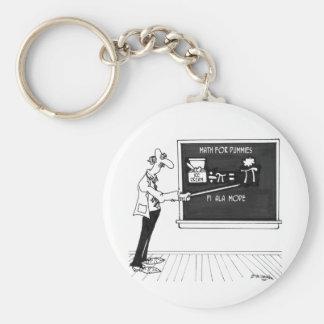 Mathe-Cartoon 5850 Standard Runder Schlüsselanhänger