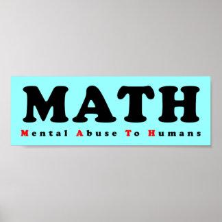 MATHE entspricht Geistesmissbrauch zum Poster