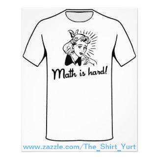 Mathe ist hart 11,4 x 14,2 cm flyer
