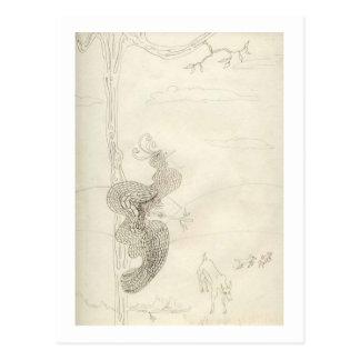 Matilda der prachtvolle Paradiesvogel Postkarte