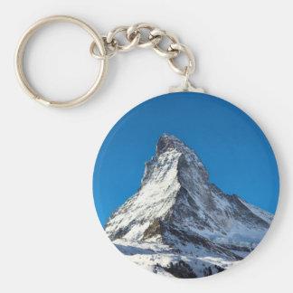 Matterhorn-Foto Standard Runder Schlüsselanhänger