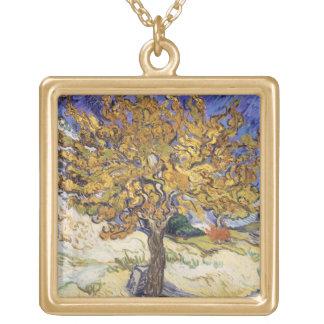 Maulbeerbaum Vincent van Goghs  , 1889 Halskette Mit Quadratischem Anhänger