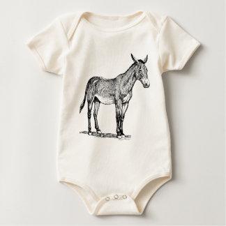 Maultier-Zeichnen, störrisch Baby Strampler