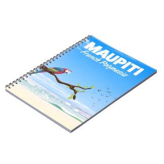 Maupiti Französisch-Polynesien-Reiseplakat Notizblock