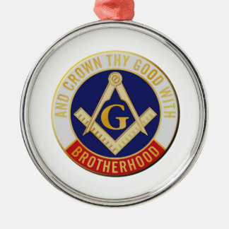 Maurer-Bruderschaft Rundes Silberfarbenes Ornament
