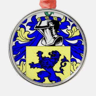 Maurer-(englisches) Wappen Rundes Silberfarbenes Ornament
