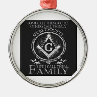 Maurer-Familie Silbernes Ornament