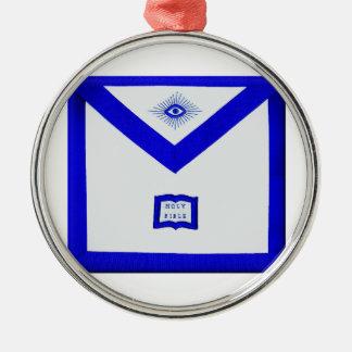 Maurer-Geistlich-Schürze Rundes Silberfarbenes Ornament