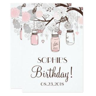 Maurer-Glas-erröten Blumengeburtstags-Party 12,7 X 17,8 Cm Einladungskarte