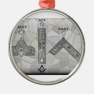 Maurer-Treffen-Taten-Teil Rundes Silberfarbenes Ornament