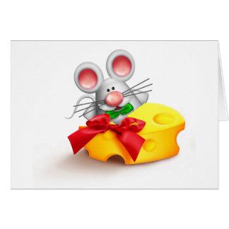Maus, die Käse-Mitteilungskarten isst Mitteilungskarte