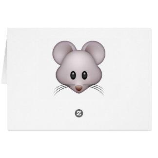Maus - Emoji Mitteilungskarte
