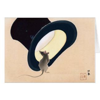 Maus in einem Zylinder Karte