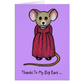 Maus mit den großen Ohren: Hörte Ihre Nachrichten, Karte