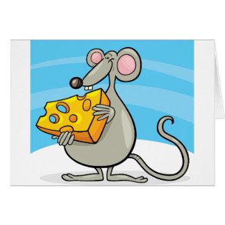 Maus mit Käse-Mitteilungskarten Mitteilungskarte