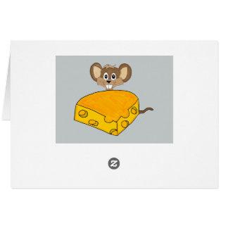 Maus und Käse Mitteilungskarte