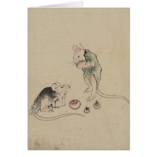 Mäuse im Rat Mitteilungskarte