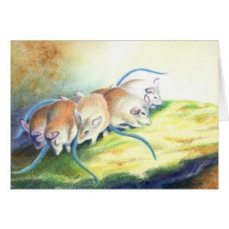 Mäuse, Maus Mitteilungskarte