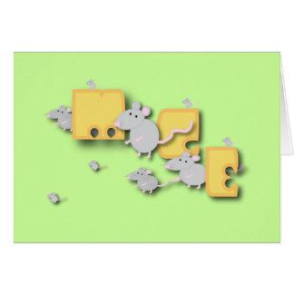 Mäuse! Mitteilungskarte