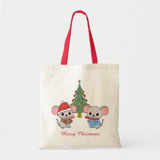 mäuse Weihnachtens Tragetasche