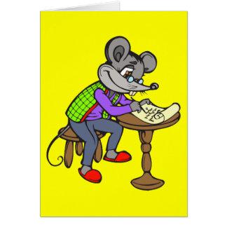 Mäuseschreibens-Buchstabe Karte