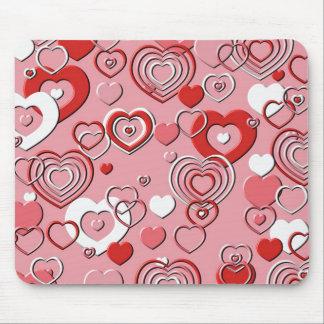 Mausunterlage - Herz-Herz-Herzen Mauspads