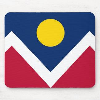 Mausunterlage mit Flagge von Denver, Colorado - Mousepads
