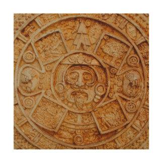 Mayagott-Kalender Holzwanddeko