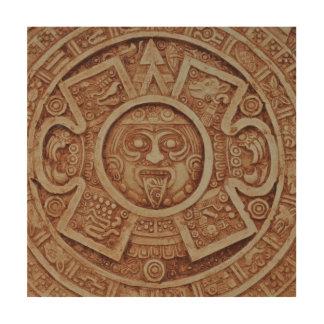 Mayakalender Holzdruck