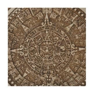 Mayakalender Holzleinwand