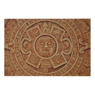 Mayakalender Holzwanddeko